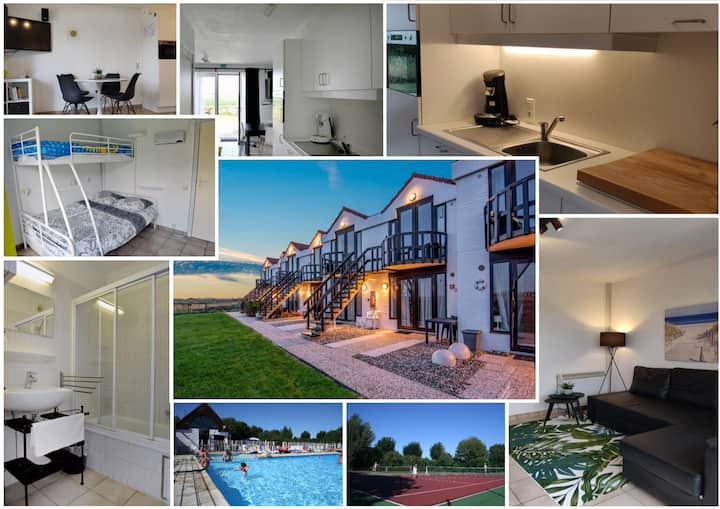 Apartment @ De Haan with view, parking&heated pool