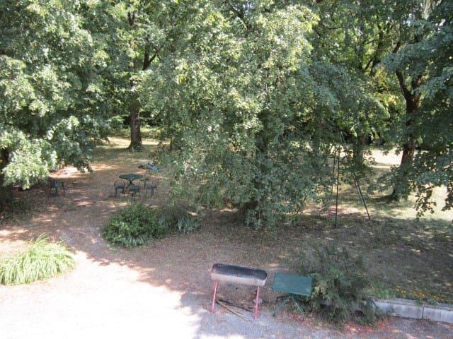 vue sur le parc depuis une chambre