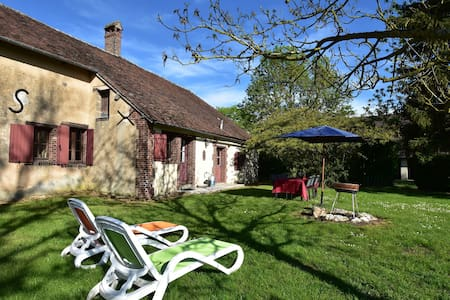 Characteristic house on large country estate near Saint Maurice-sur-Aveyron