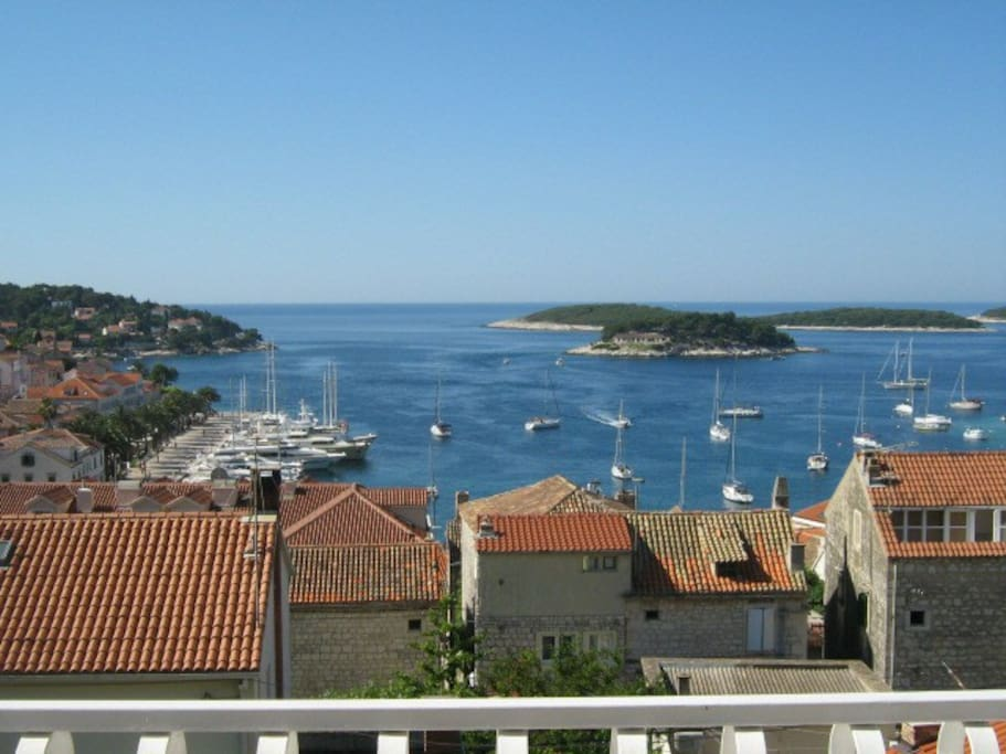 view over Hvar harbor
