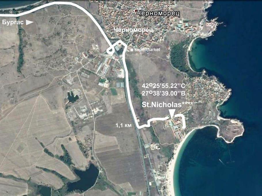 маршрут Черноморец - St.Nichola****
