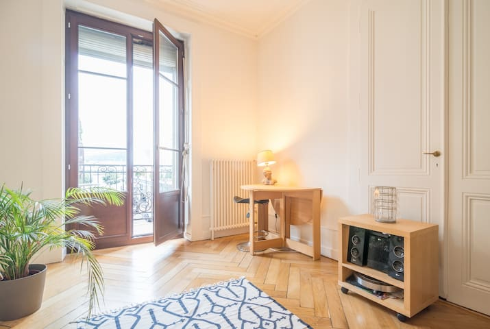 Large bright room, lake view - Genève - Appartement