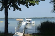 Guests are provided access to the lake from our private dock