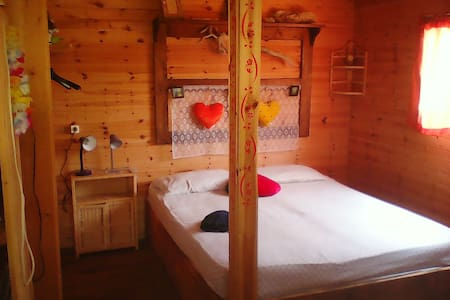 "Bungalow ""Love Nest"" in naturist camping"