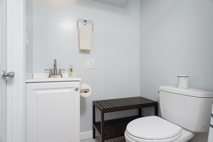 Newly added bathroom