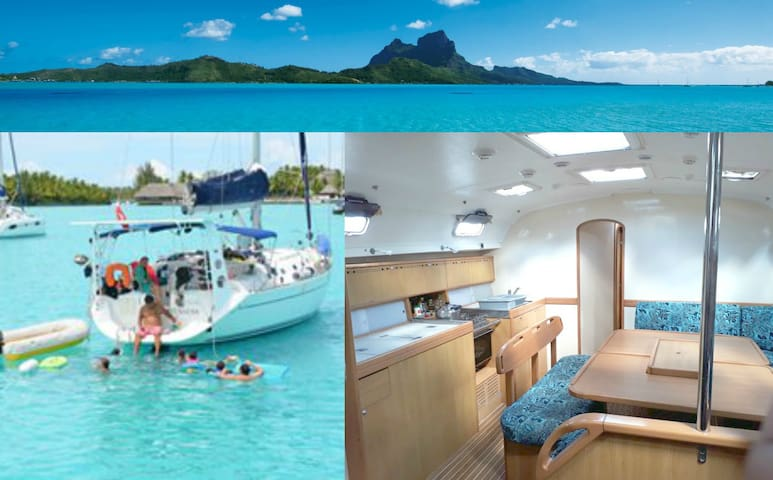 bora bora comfortable sailing boat