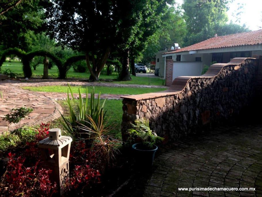 Habitaciones con espacios propios rodeados de vegetación