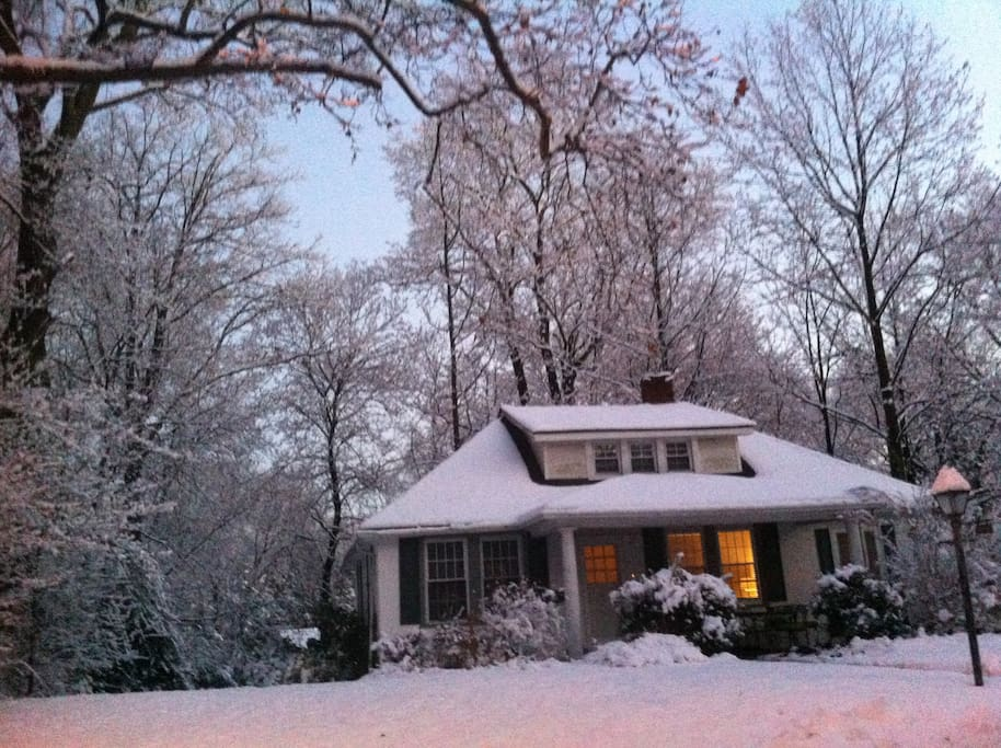 It's a cozy cottage, especially in the winter.  Drink some hot chocolate by the fire and watch the snow come down.