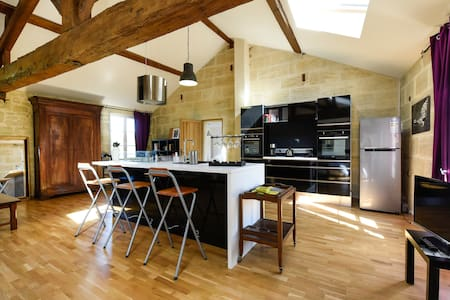 A fabulous well-equipped loft 80m2 - Bourg-sur-Gironde - Lägenhet