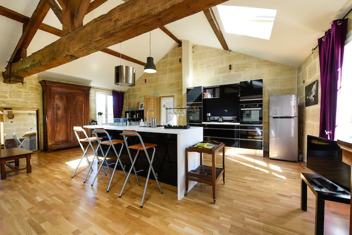 A fabulous well-equipped loft 80m2