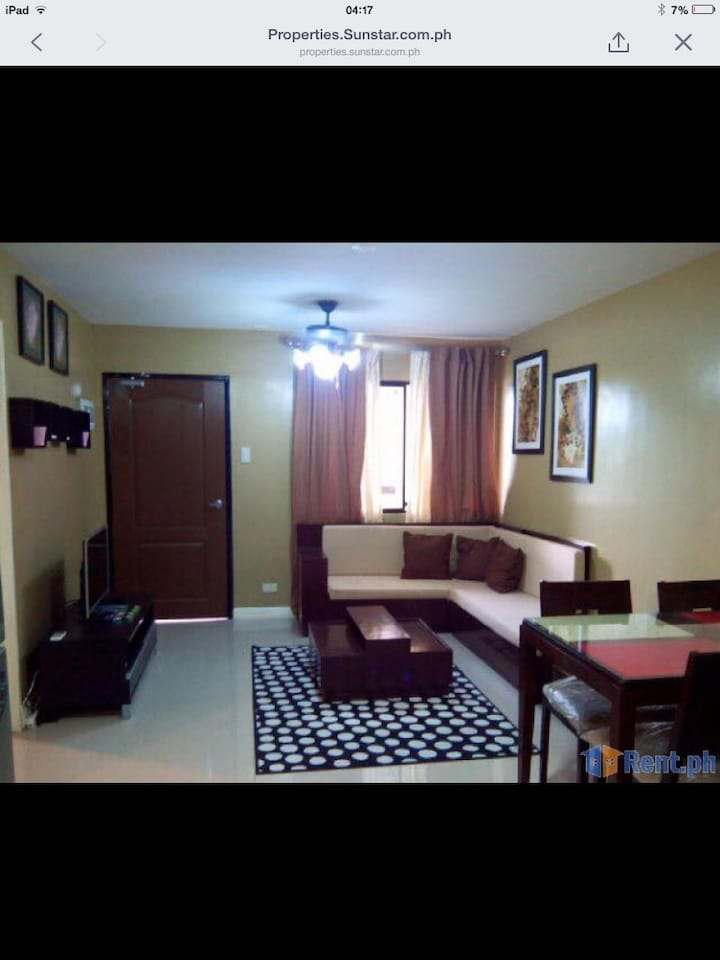 a fully furnished 2 bedroom unit