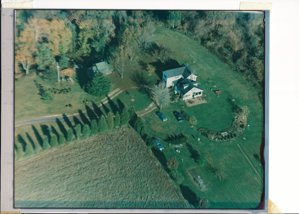 The home sits on approximately 11 acres of land making it great for a private getaway.