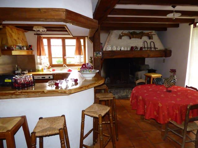 Le Campagnard, gîte avec cheminées à Saint-Girons