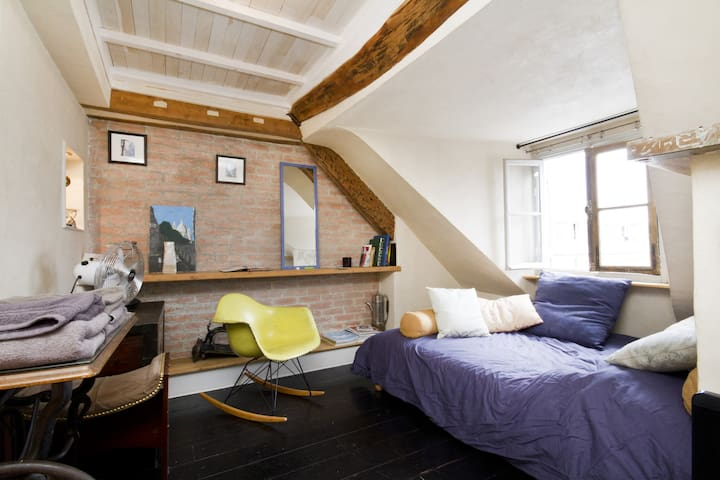 charming flat rooftop Montmartre - Paris - Apartment