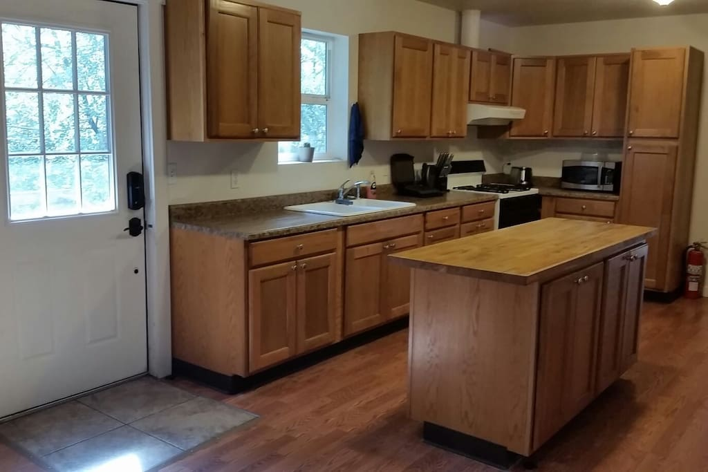 The kitchen available for guests.