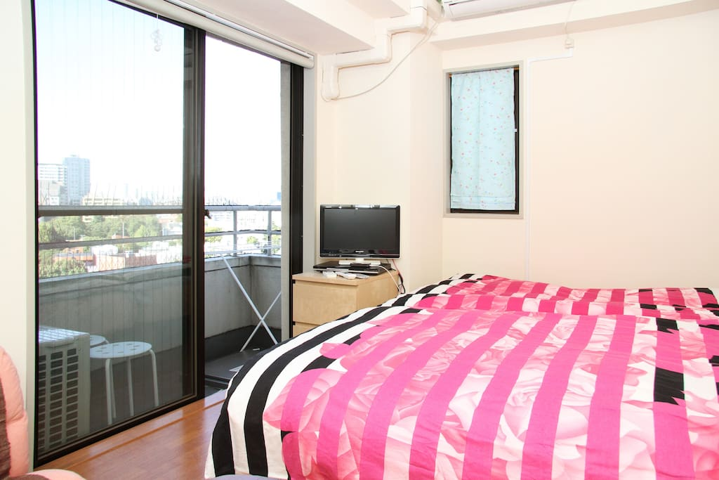 See great views outside while on the bed