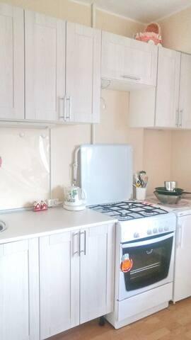 Кухня с газовой плитой и духовкой
