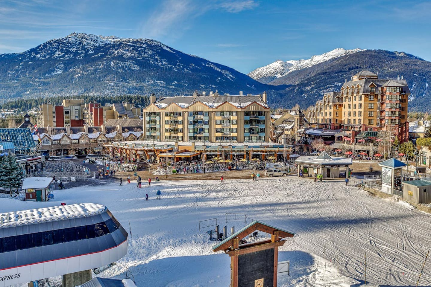 The absolute best location in all Whistler, The Carleton Lodge is located next to lifts and in the center of everything!