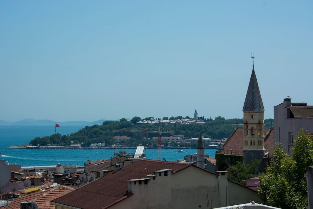 View of Golden Horn over the terrace