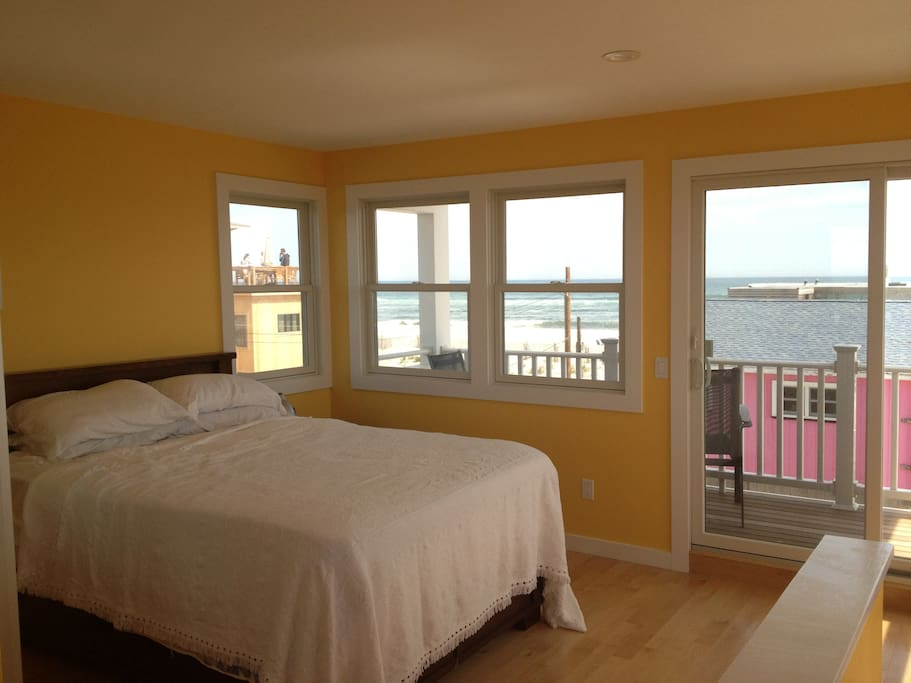 Master bedroom with private deck and panoramic views.