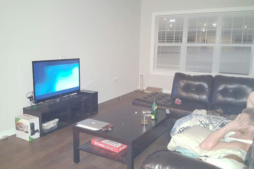 Large sectional with cable