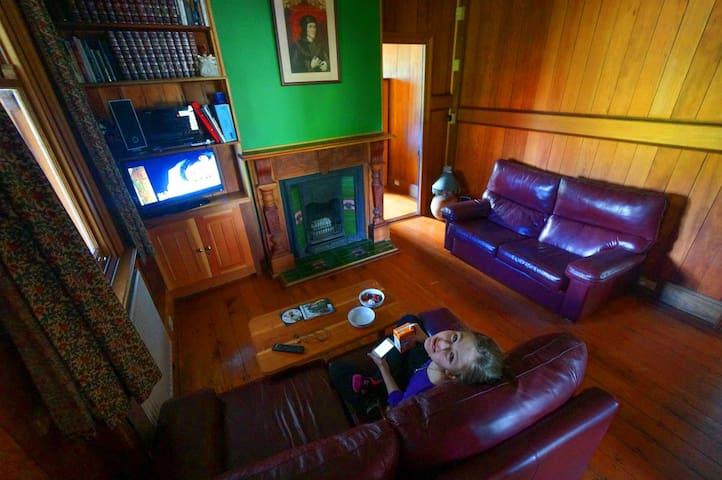 The sitting room has television and DVD player