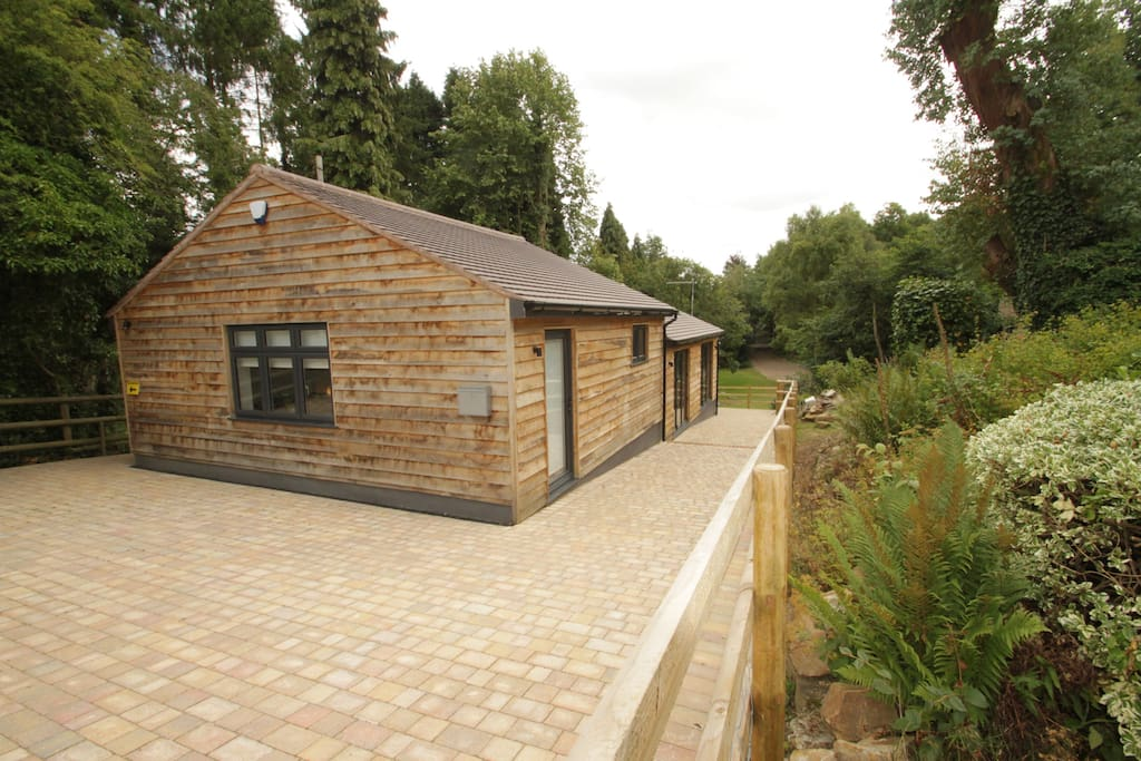 This Lodge House Is detached and in an area of outstanding beauty