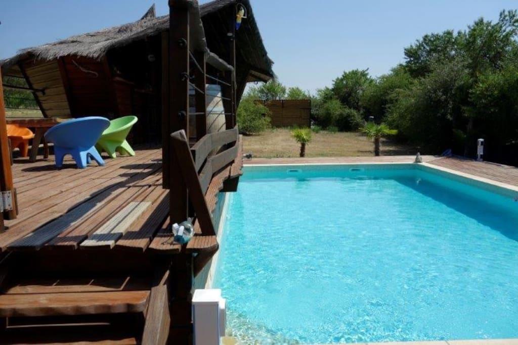terrasse/bar piscine