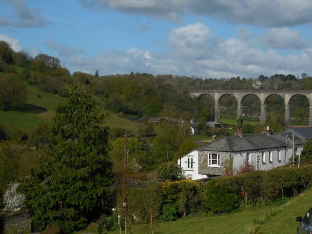 Double room with valley view and breakfast - Calstock