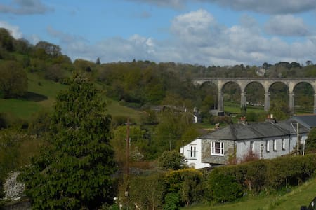 Double room with valley view and breakfast - Calstock - Dům