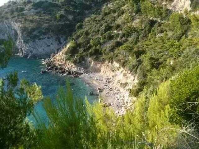 Cottage over the cliff Tuscany sea - Cala Piccola - Casa de campo