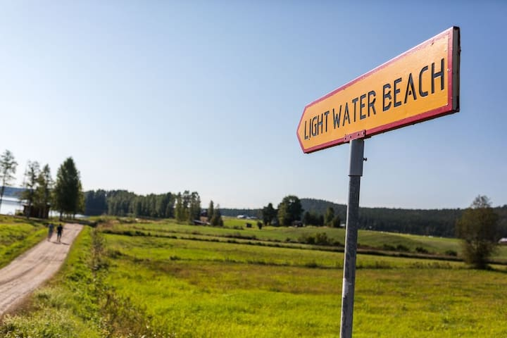 The local beach is 4 minuets walk. There you will find all facilities.