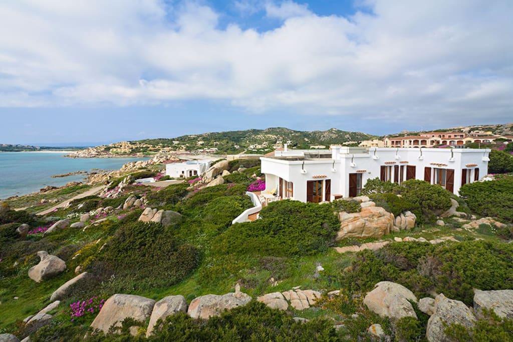 Villa vista dall'alto