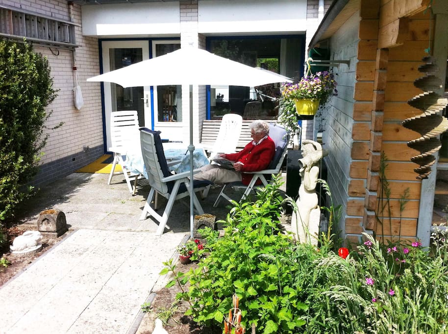 Relax on our sunny terrace
