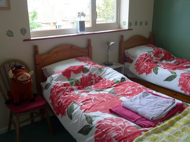 Havant - Clean comfy twin room with breakfast.