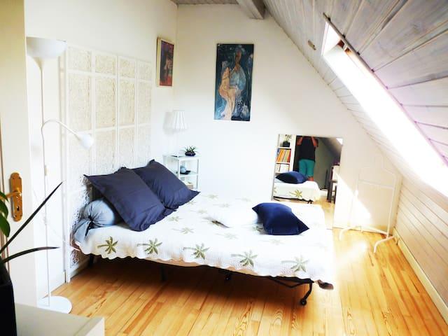 Etage maison spacieux proche centre - สตราสบูร์ก - ที่พักพร้อมอาหารเช้า