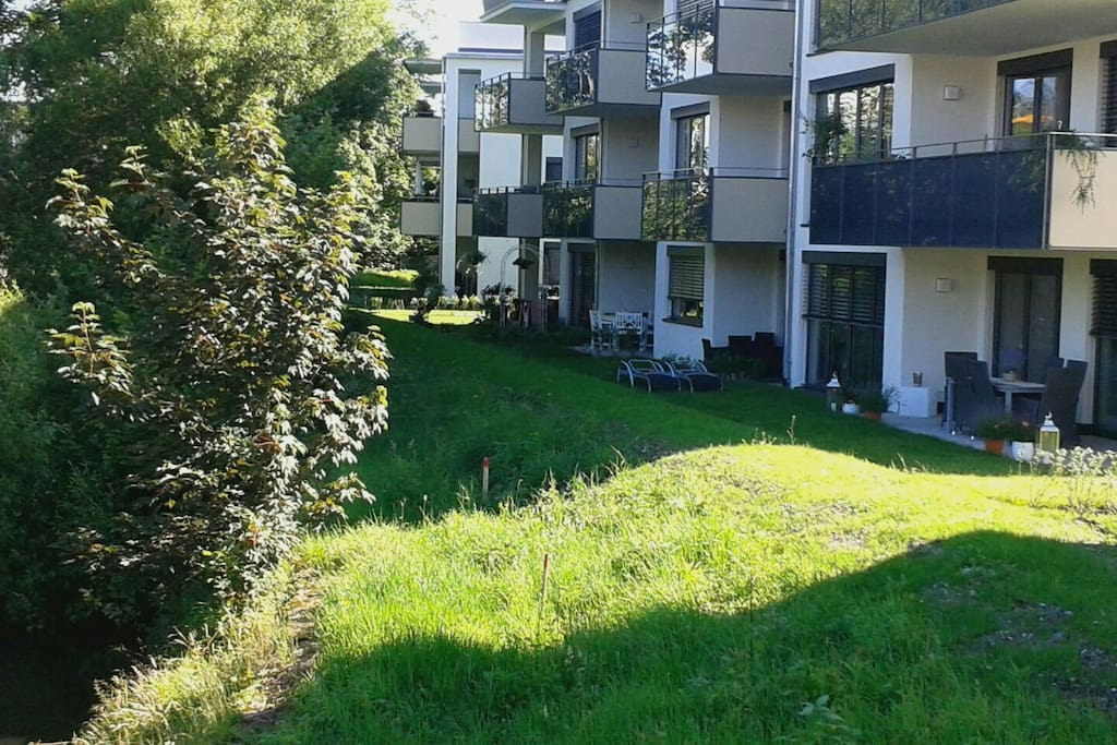 Ferien in der stadtoase an d ach apartments for rent in for Bodensee apartment