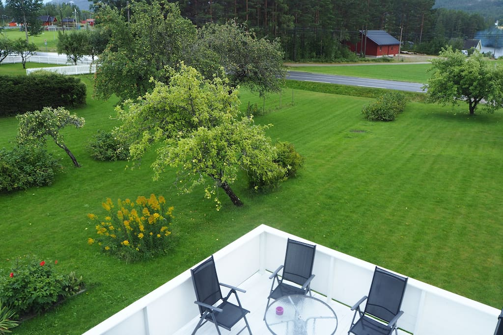 Large patio and large garden