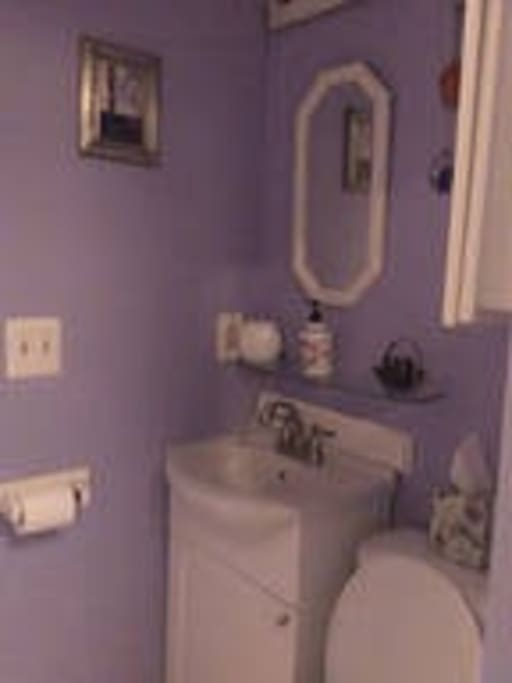 Bath with shower on first floor