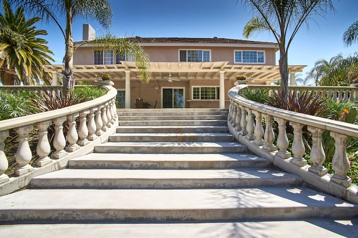 Staircase from Pool/Spa to house