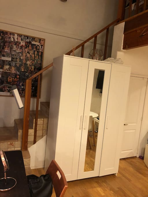 Access to second floor , another room , and closet