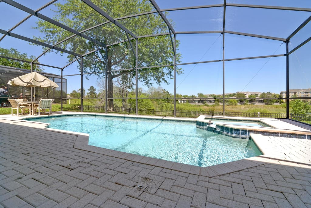 Spend a day of sunny fun with your loved ones in and around this crystal clear, private pool that's all yours when you stay at this Windsor Hills resort home.