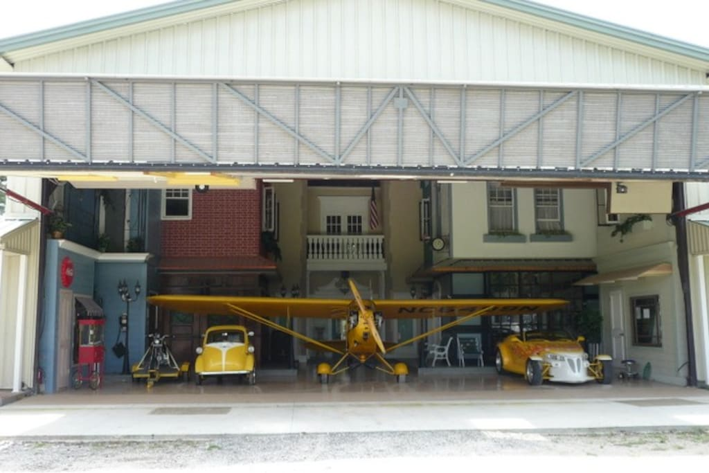 The Danville Inn is a private rental located inside the Danville Hanger.