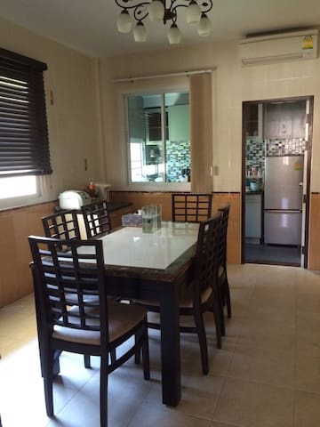 Dining room, with AC.
