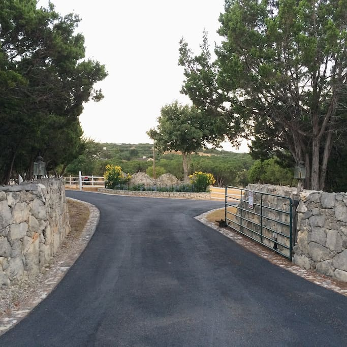 Main entry into the 20 acre Estate property and to the Storybook Cottage