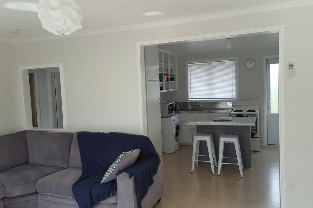 Loungeroom and kitchen