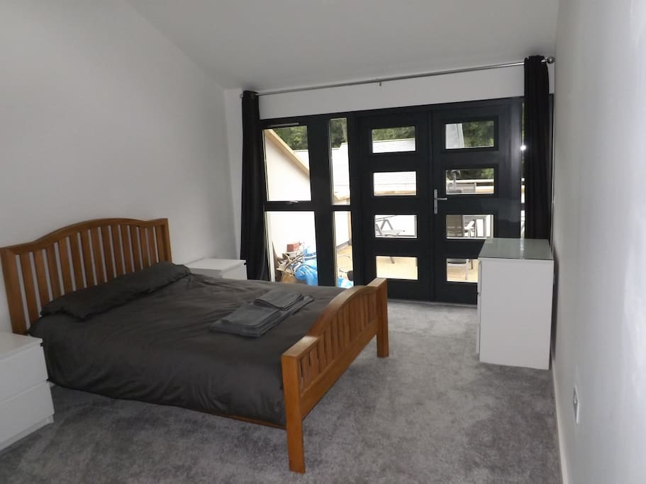 Spacious double bedroom with independent disabled access!
