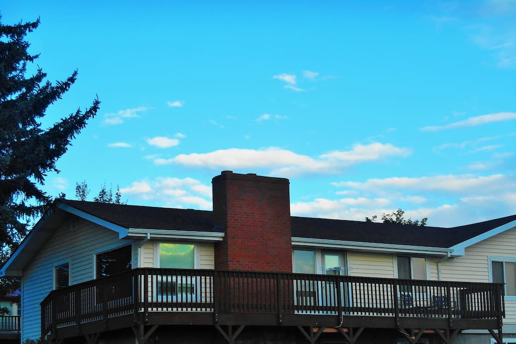 Enjoy the three-mountain view from our deck.