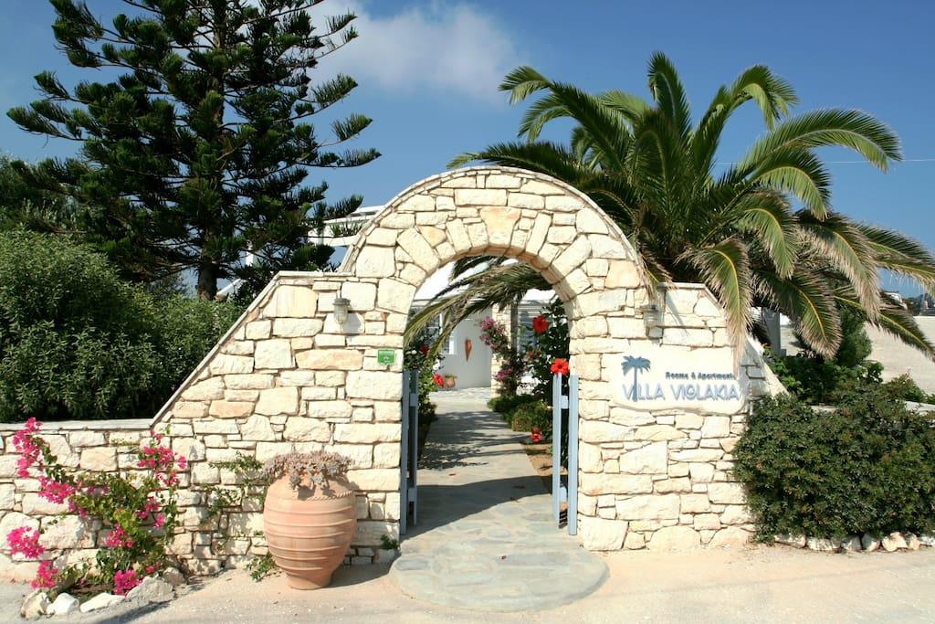 Entrance of Villa Viglakia