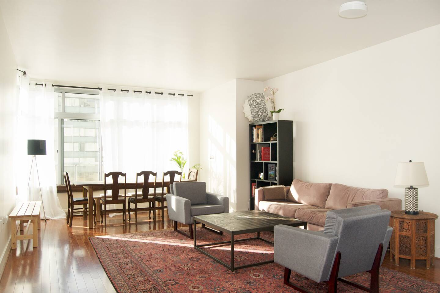 Spacious and light filled living room
